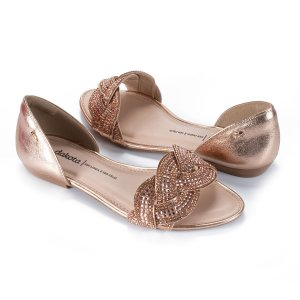 Sandália Dakota Brilhos Dourada
