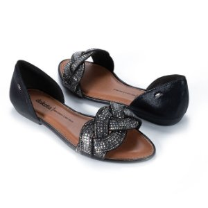 Sandália Dakota Brilhos Cor Preto