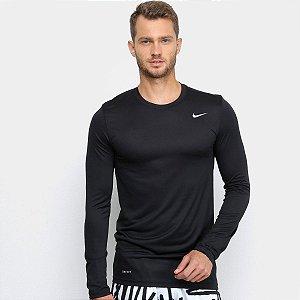 Camiseta Nike Masculina Manga Longa Dry Tee Cor Preto