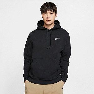 Blusão Nike Club Hoodie Masculino Cor Preto