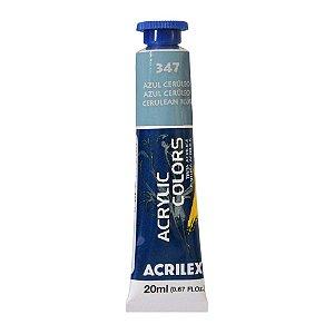 Tinta Acrílica Acrilex 20ml 347 Azul Cerúleo