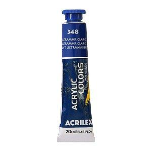 Tinta Acrílica Acrilex 20ml 348 Azul Ultramar