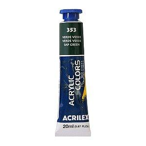 Tinta Acrílica Acrilex 20ml 353 Verde Vessie