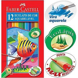 Lápis de cor Faber Castell EcoLápis Aquarelável 12 cores