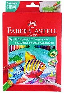 Lápis de Cor Faber Castell EcoLápis Aquarelável 36 cores