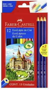 Lápis de Cor Faber Castell EcoLápis 12 cores