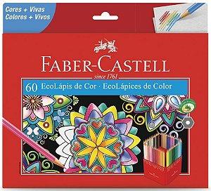 Lápis de Cor Faber Castell EcoLápis 60 cores