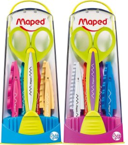 Tesouras Escolar Corte Criativo Maped kit c/ 5 lâminas