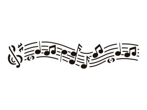 Stencil Acrilex Ref.1160 Música 30cm x 8cm