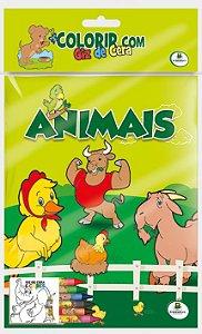 Colorir com Giz de Cera: Animais - Todolivro