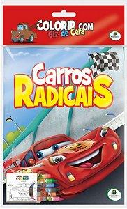 Colorir com Giz de Cera: Carros Radicais - Todolivro