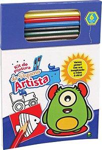 Kit de Pintura do Pequeno Artista: Azul - Todolivro
