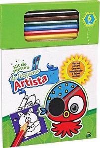 Kit de Pintura do Pequeno Artista: Verde  - Todolivro