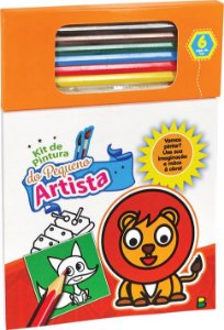 Kit de Pintura do Pequeno Artista: Laranja - Todolivro