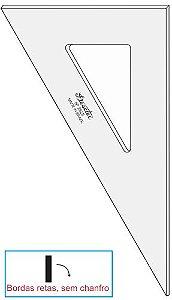 Esquadro Trident Escaleno 60°sem Escalas Acrílico Cristal