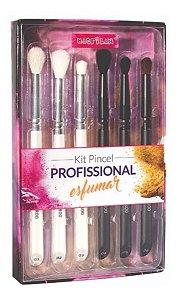 Kit Pincel Para Esfumar Profissional Macrilan Wb800*