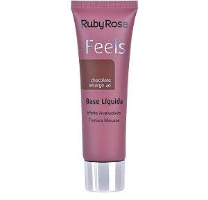 Base Liquida Feels Chocolate Amargo 40 - Ruby Rose*