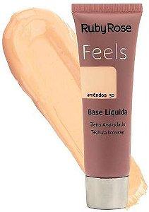 Base Liquida Feels Amêndoa 30 - Ruby Rose*