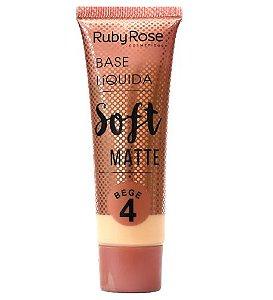 Base Liquida Soft Matte BEGE 4 - RUBY ROSE*
