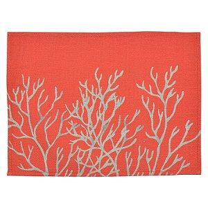 Jogo Americano Vermelho Coral