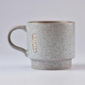 Caneca Modern Coffee Nude e Azul Claro Granite