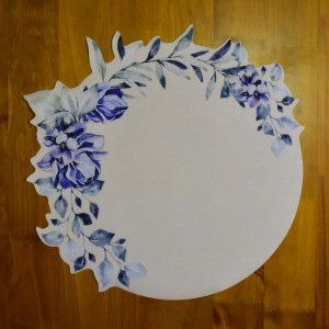 Jogo Americano Florido Azul