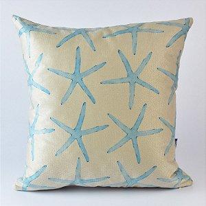 Almofada Náutica Estrela do Mar Padrão Azul