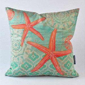 Almofada Náutica Verde com Estrela do Mar