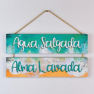 Placa Náutica Água Salgada, Alma Lavada