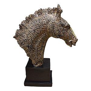 Cabeça de Cavalo em Resina