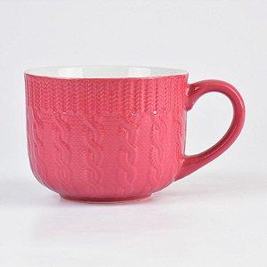 Caneca Tricot Rosa Pink