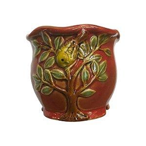 Mini Vaso Árvore Vermelho
