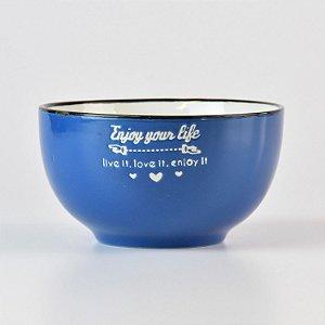 Bowl Life Azul em Cerâmica