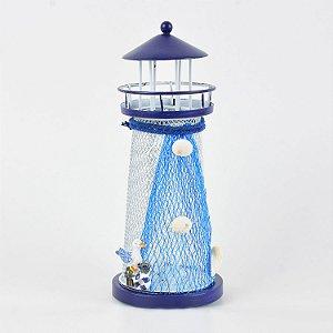 Farol em Metal com luz de LED Mod. D