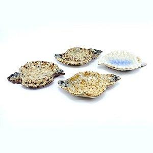 Jogo c/4 Petisqueiras em Cerâmica