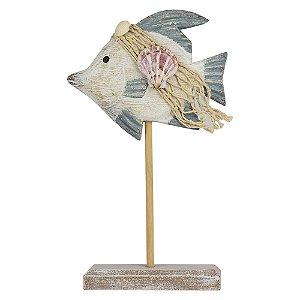 Enfeite Peixe em Madeira 30 cm