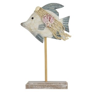 Enfeite Peixe em Madeira 26 cm