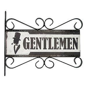 Placa Rústica Gentlemen
