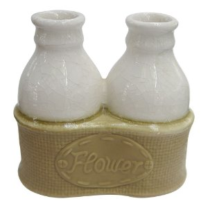 Vaso de Cerâmica Flower Branco