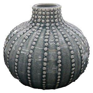 Vaso de Cerâmica King Azul