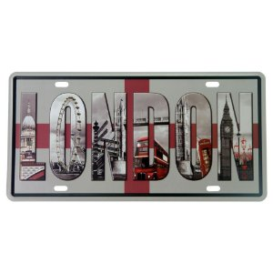 Placa Decorativa em Metal London