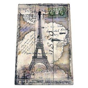 Quadro de Madeira Torre Eiffel