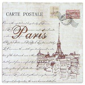Quadro de Madeira Postal Paris