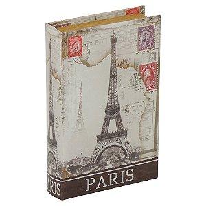 Porta-Objetos com Chave Livro Paris