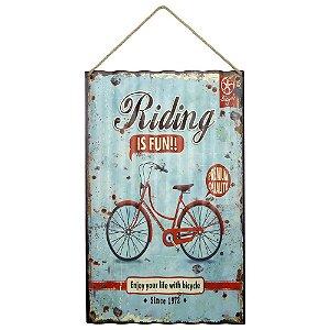 Placa em Metal Riding