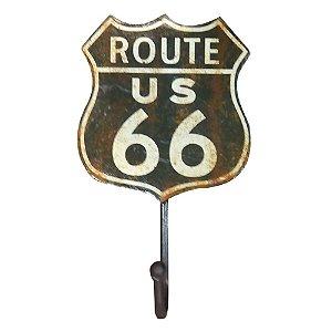 Cabideiro de Parede Rústico Route Us 66