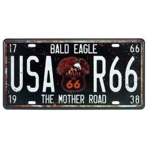 Placa Decorativa em Metal USA