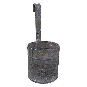 Vaso de Parede em Metal Rústico Pequeno