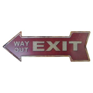 Placa em Metal Decorativa Exit