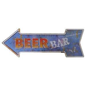 Placa em Metal Decorativa Beer Bar